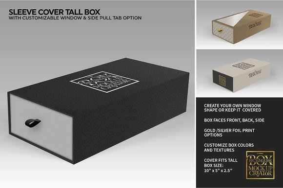 Rectangular Box Mock Up Creator in Product Mockups - product preview 32