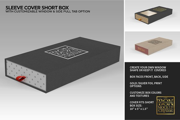 Rectangular Box Mock Up Creator in Product Mockups - product preview 33