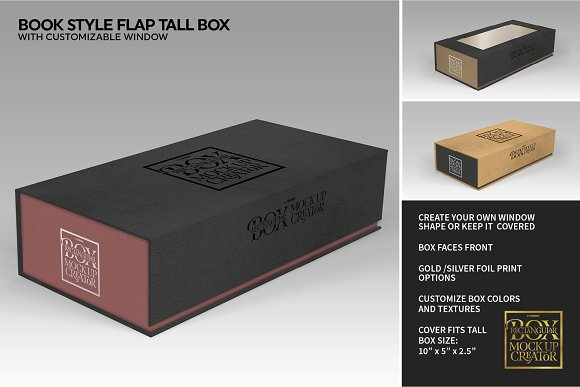Rectangular Box Mock Up Creator in Product Mockups - product preview 34