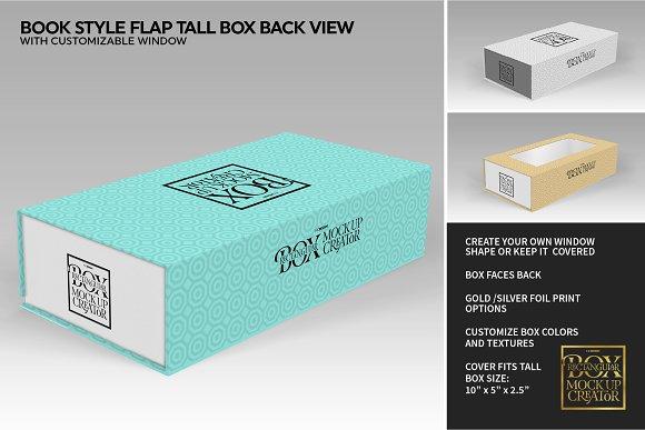 Rectangular Box Mock Up Creator in Product Mockups - product preview 35