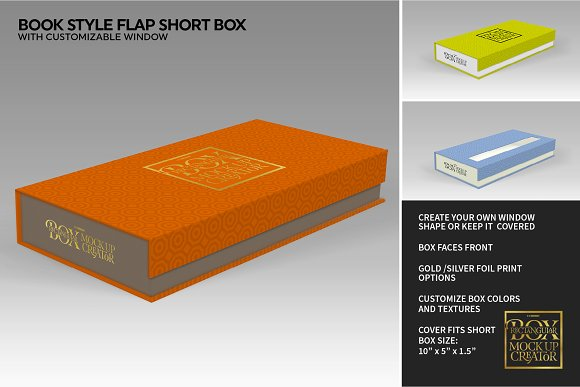 Rectangular Box Mock Up Creator in Product Mockups - product preview 36