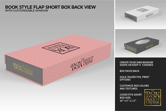Rectangular Box Mock Up Creator in Product Mockups - product preview 37