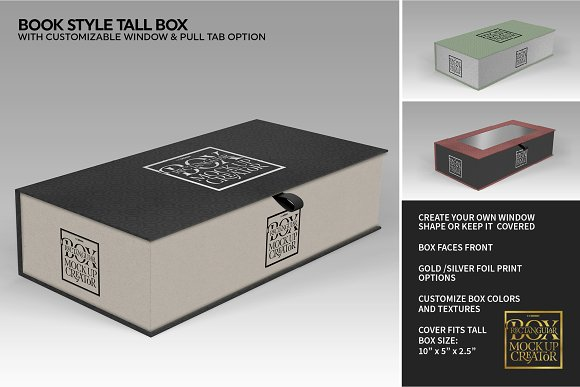 Rectangular Box Mock Up Creator in Product Mockups - product preview 38