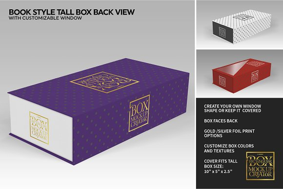 Rectangular Box Mock Up Creator in Product Mockups - product preview 39