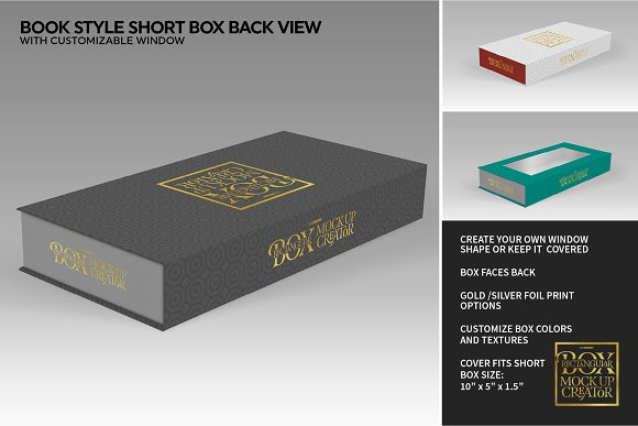 Rectangular Box Mock Up Creator in Product Mockups - product preview 41