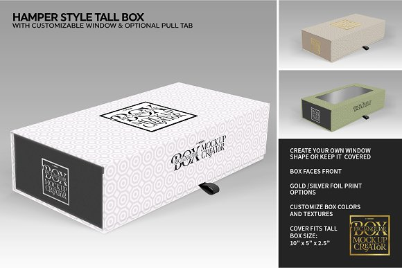 Rectangular Box Mock Up Creator in Product Mockups - product preview 42