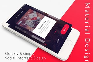 Social App PSD for mobile app
