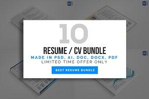 10 Corporate CV/Resume Bundle