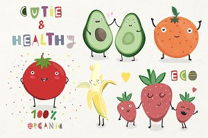 Healthy cute fruits