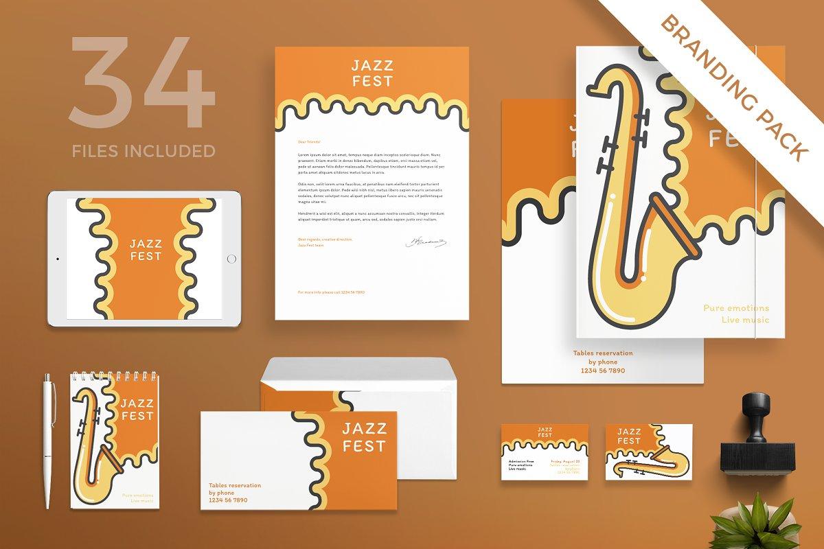 Branding Pack   Jazz Festival in Branding Mockups - product preview 8