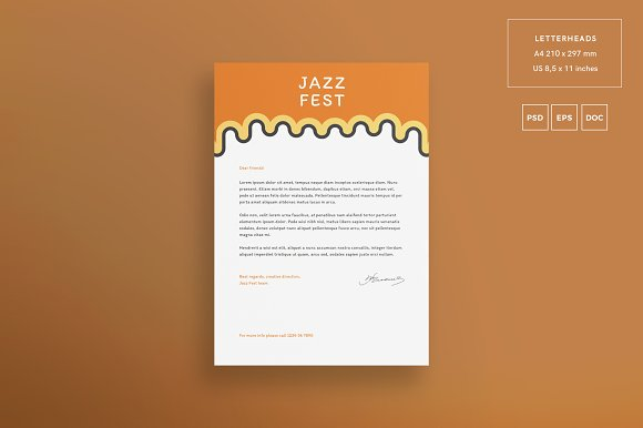 Branding Pack | Jazz Festival in Stationery Templates - product preview 1