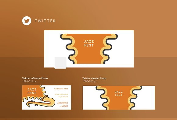 Branding Pack | Jazz Festival in Stationery Templates - product preview 2