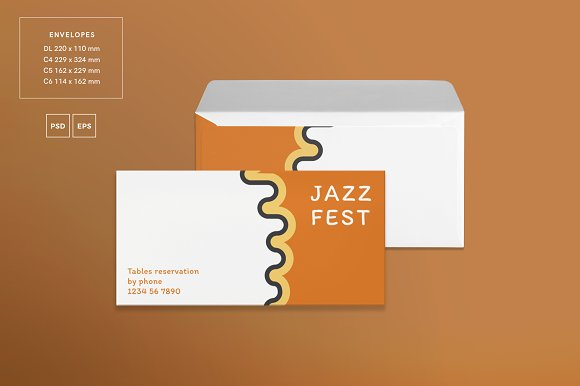 Branding Pack | Jazz Festival in Stationery Templates - product preview 3