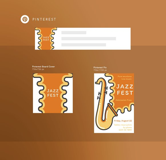 Branding Pack | Jazz Festival in Stationery Templates - product preview 5