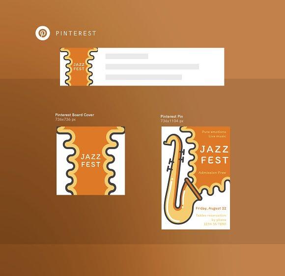 Branding Pack   Jazz Festival in Branding Mockups - product preview 5