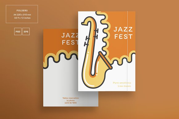 Branding Pack | Jazz Festival in Stationery Templates - product preview 6