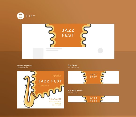 Branding Pack | Jazz Festival in Stationery Templates - product preview 7