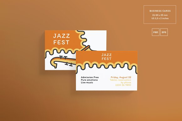 Branding Pack | Jazz Festival in Stationery Templates - product preview 8