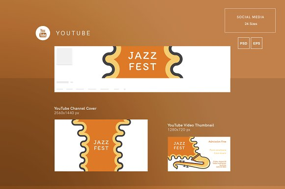 Branding Pack | Jazz Festival in Stationery Templates - product preview 9