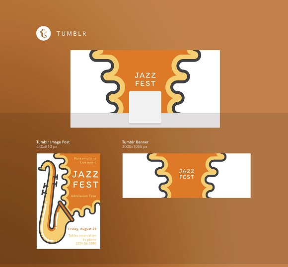 Branding Pack | Jazz Festival in Stationery Templates - product preview 11
