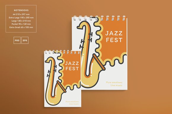 Branding Pack | Jazz Festival in Stationery Templates - product preview 13