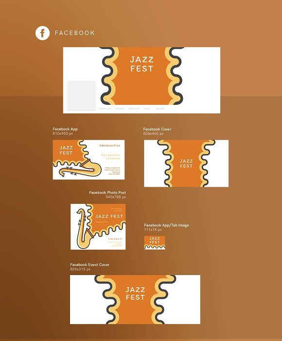 Branding Pack | Jazz Festival in Stationery Templates - product preview 14