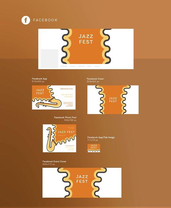 Branding Pack   Jazz Festival in Branding Mockups - product preview 14