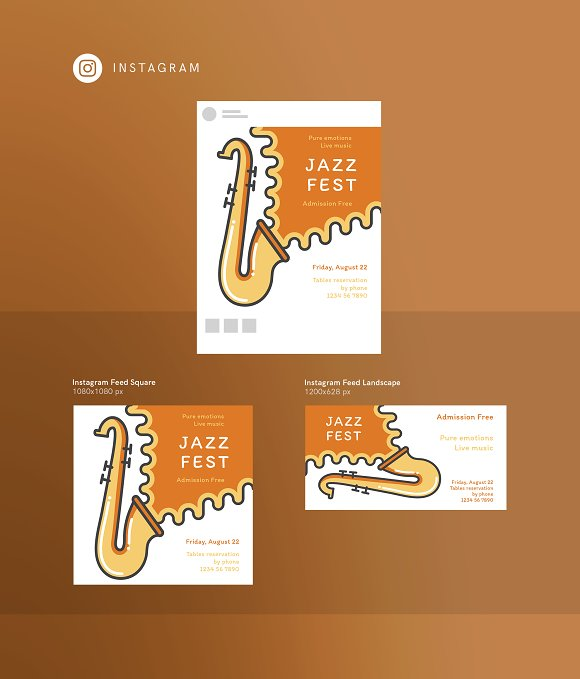 Branding Pack | Jazz Festival in Stationery Templates - product preview 15