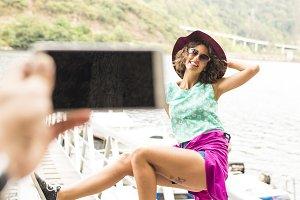 girl becoming summer vacation photos