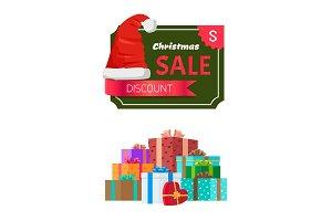 Discount Christmas Sale Promo Sticker Hat advert