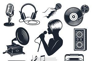 Karaoke Elements Vintage Set