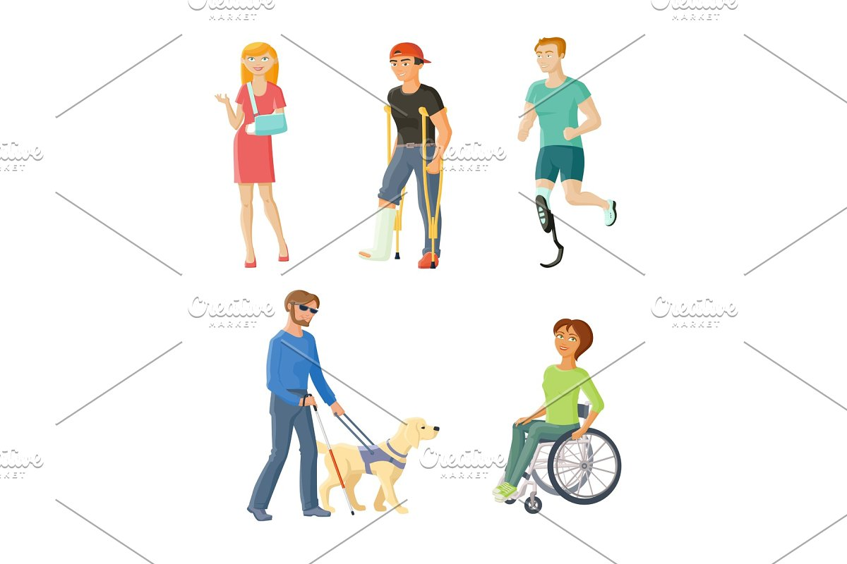 People with injures, traumas and disabilities