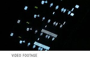 Macro shot of the broadcast video