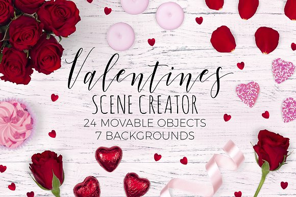 Valentines Scene Creator - Top View in Scene Creator Mockups