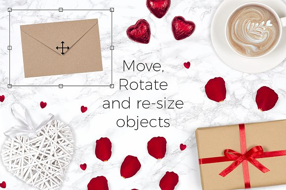 Valentines Scene Creator - Top View in Scene Creator Mockups - product preview 1