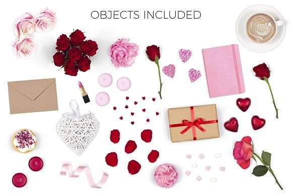 Valentines Scene Creator - Top View in Scene Creator Mockups - product preview 4