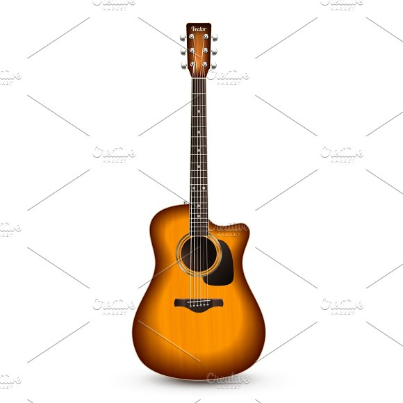 Realistic acoustic guitar