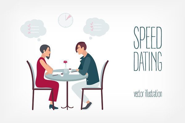Speed dating.People meet in the caf…