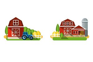 Farm buildings and country houses