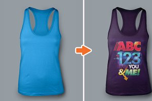 Ladies Racerback Tank Top Mockups
