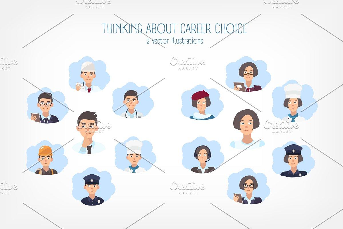 Career choice concept