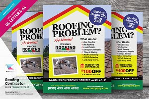 Roofing Contractor Flyer Vol.03