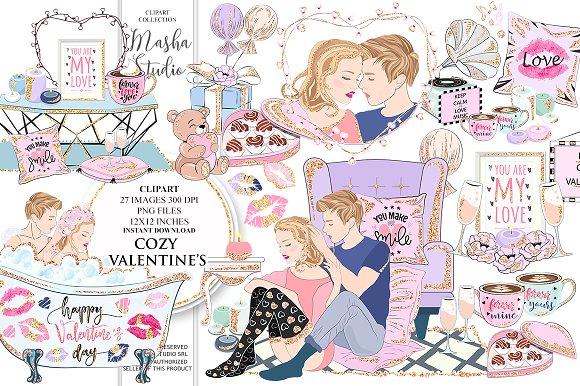 COZY VALENTINE'S DAY clipa-Graphicriver中文最全的素材分享平台