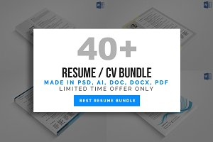 40+ Resume Cv Bundle