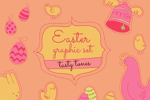 Tasty easter icons