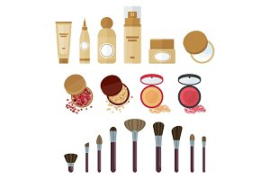 cosmetics make up set
