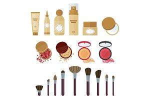 cosmetics make up set