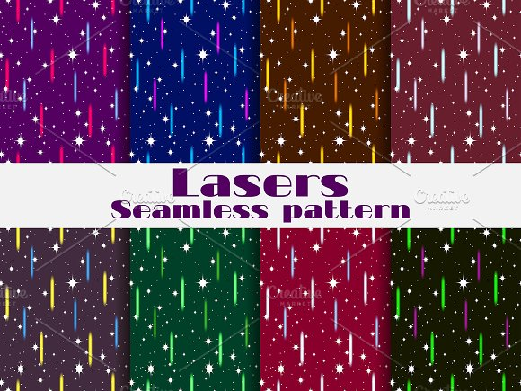 Seamless patterns with laser beams
