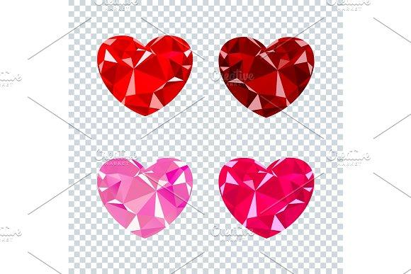 heart ruby set