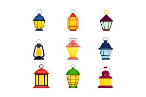 lantern oldfashioned color set
